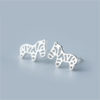 Zebra 925 Sterling Silver Stud Earrings 2