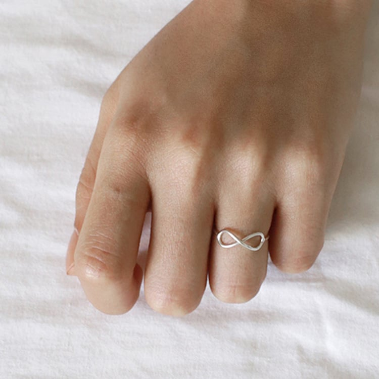 Infinity 925 Sterling Silver Ring 2
